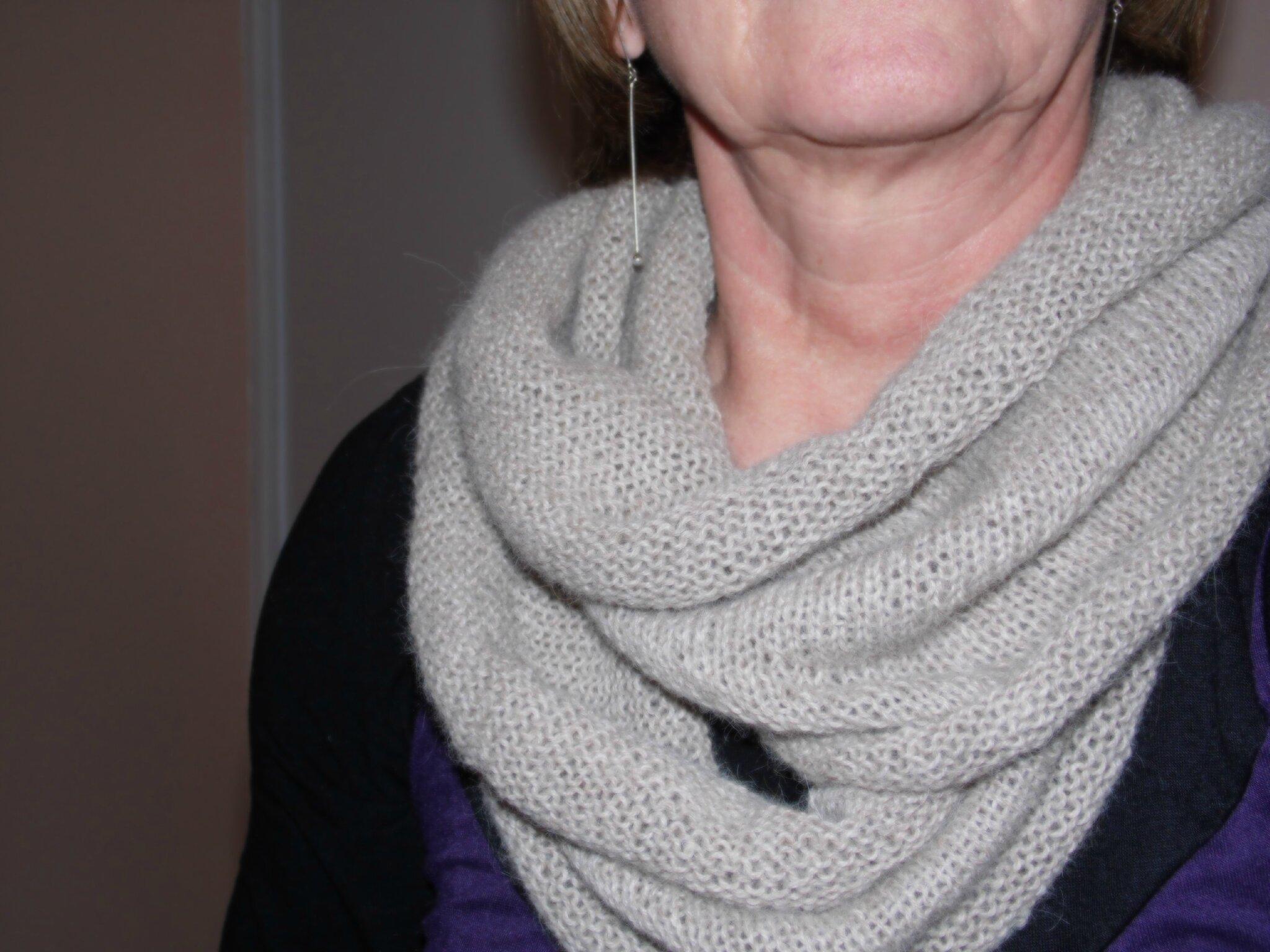 tricoter un snood double tour