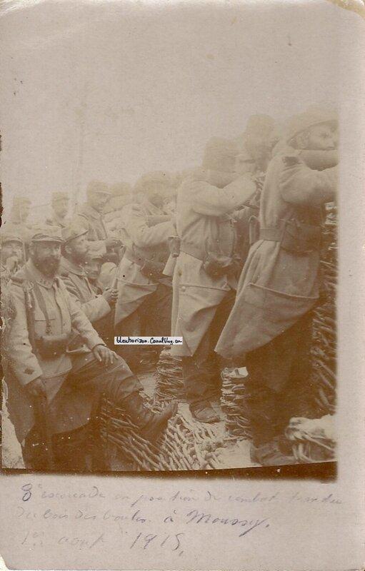 1er août 1915 au bois des boules près de Moussy