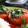 Tomates farcies au fromage et poivron