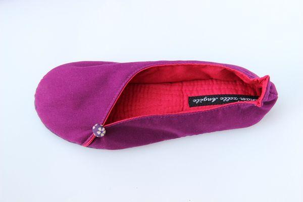 Ballerines découpées enfants violet et cerise-2