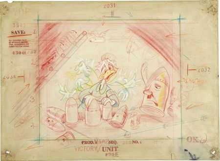 Donald Duck der Fuehrer's Face Story Board Animation