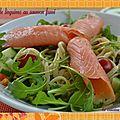 Salade de linguines au saumon fumé