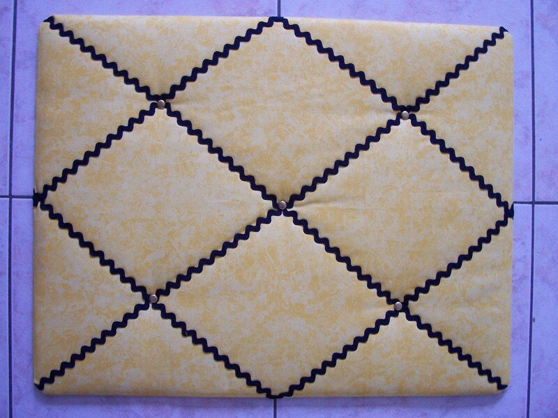 Tutoriel : pêle mêle en tissu et ruban - Anne-So Créa