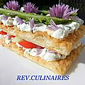 Millefeuille de lgumes d't au chvre frais