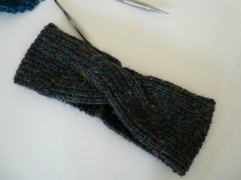 headband tricoté