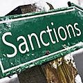 Les sanctions tombent !