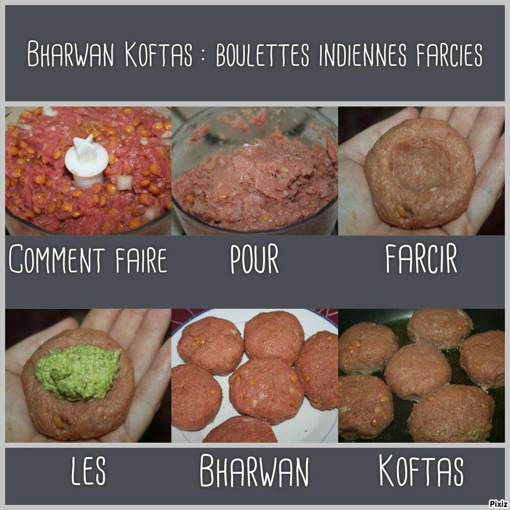 bharwan koftas boulettes indiennes farcies tous en cuisine avec nadine. Black Bedroom Furniture Sets. Home Design Ideas