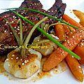 Travers de porc en 2 cuissons, marinade asiatique à la marmelade de cerises