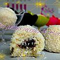 Boules coco façon bounty au coeur de nutella