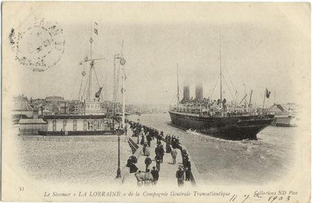 76 - LE HAVRE - Le Steamer La Lorraine