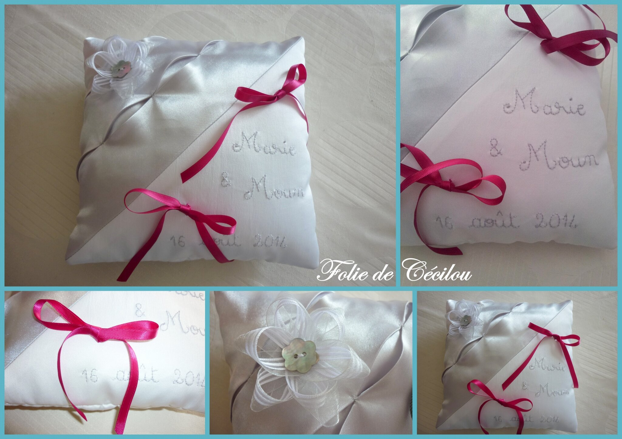 montage coussin mariage
