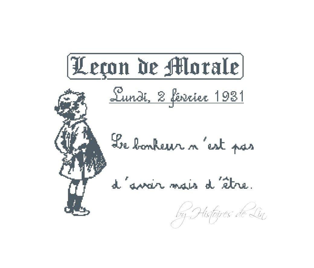 Leçon de morale par Histoires de lin