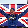Richard burns, champion du monde des rallyes 2001.