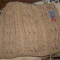 Petit détail de mon tricotage en rond.