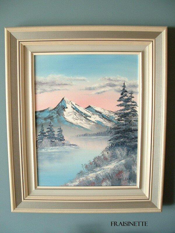 Peinture Montagnes Blanches