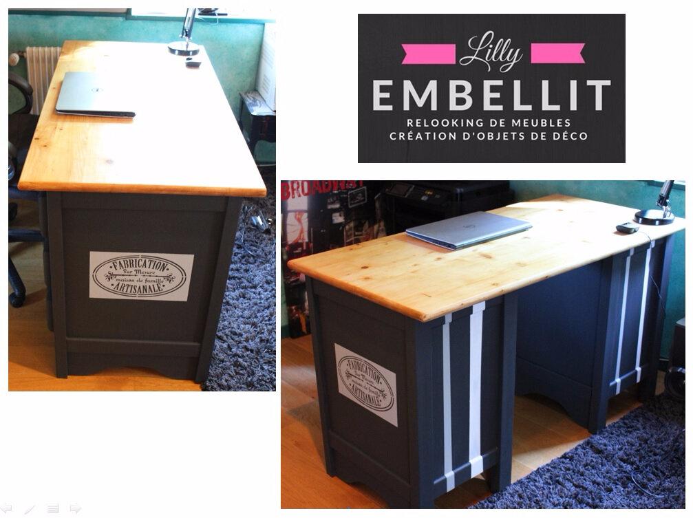 relooking bureau en pin relooking de meubles cr ation d 39 objets de d coration. Black Bedroom Furniture Sets. Home Design Ideas