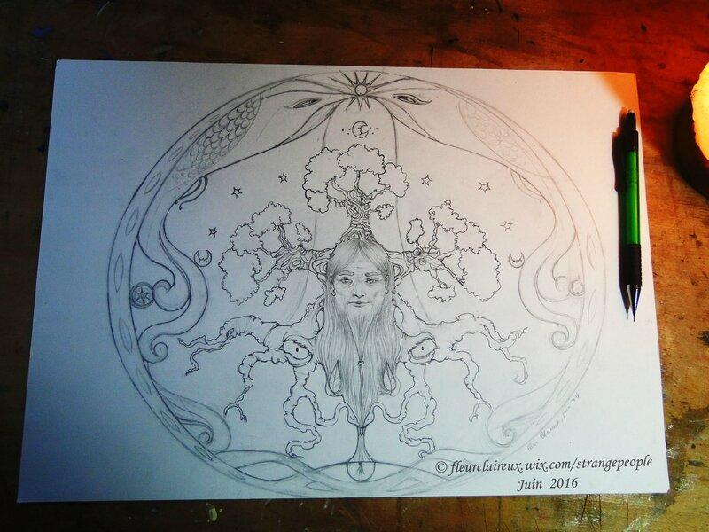 Druide croquis 3