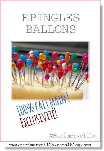 Epingles de collection ballons Marimerveille