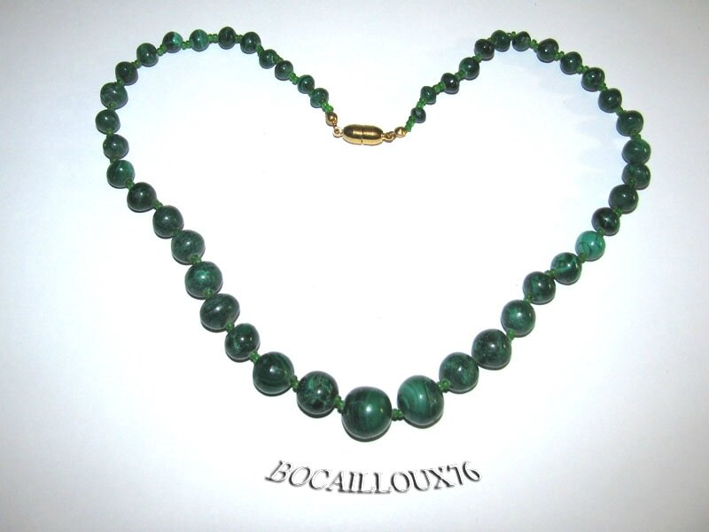 Collier MALACHITE 11 Perles (5)