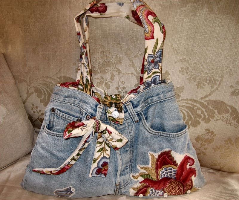 Sac en jean decoplaisir - Sac a main en jean ...