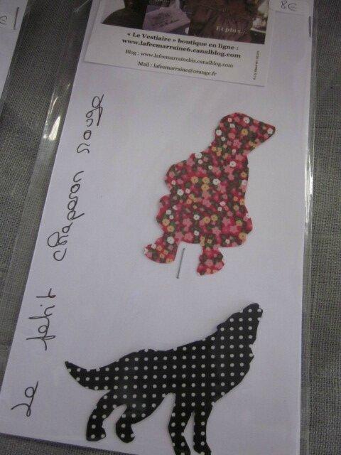 Appliqué thermocollant Le Petite Chanperon Rouge et le Loup (13)