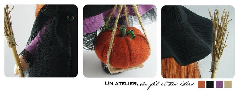 détails poupée halloween
