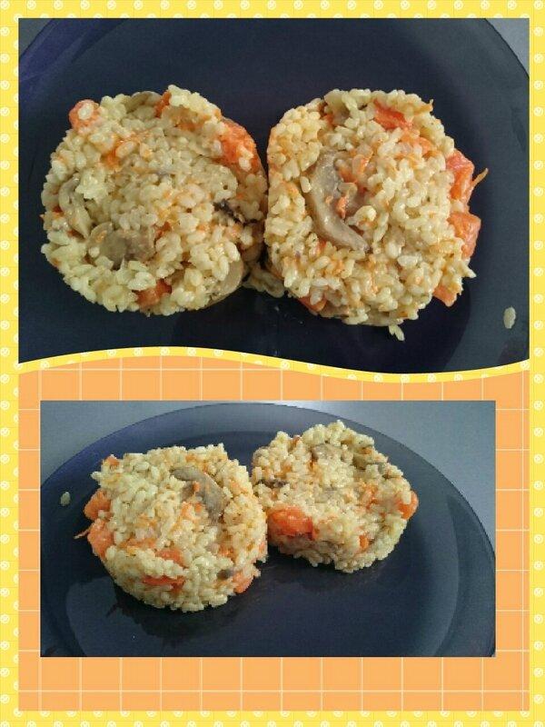 risotto au potiron et champignon petites recettes sympas et faciles. Black Bedroom Furniture Sets. Home Design Ideas