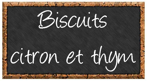 biscuits citron thym étiquette