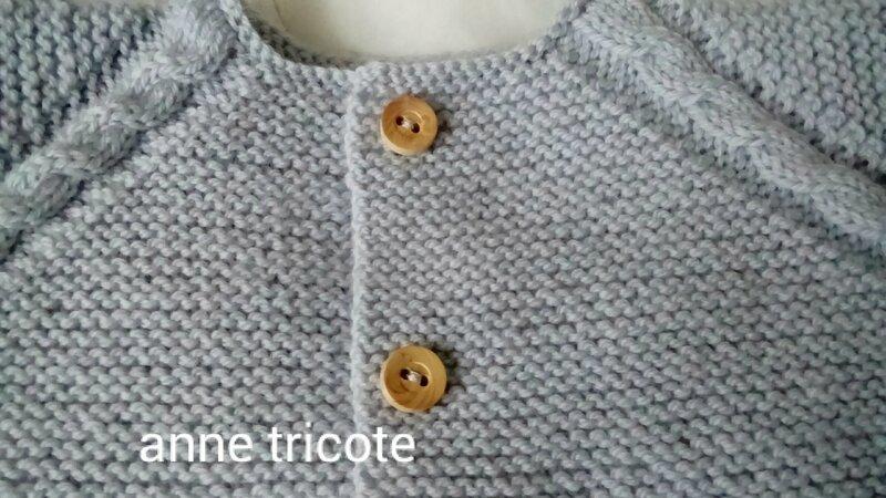 brassière garçon 3a 6 mois en bb mérinos de fonty encolur modèle passion tricot Anne