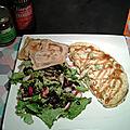 Avocat, pomme et framboise.... ou l'omelette healthy 100% girly !