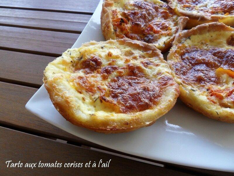 tarte aux tomates cerises et à l'ail1