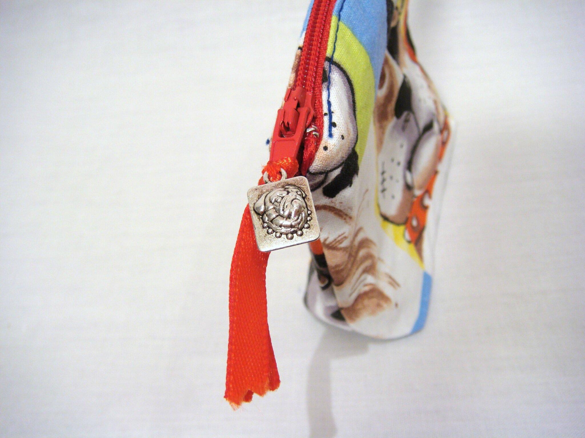 Vendu petit porte monnaie bouledogue anglais en coton for Porte and anglais