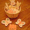Des biscuits décorés pour pâques