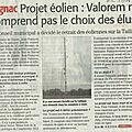 Retrait du projet éolien à gignac / la boissière (article ml)