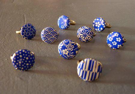 Bagues washi Songe d'elfe Bleu roi
