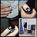 Nail-art violet et argenté