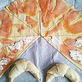 Les croissants au saumon et au fromage