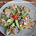 Salade de hareng façon martiniquaise