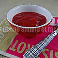 Compote fraise rhubarbe
