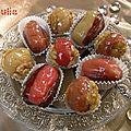 fruits déguisés à la pâte d'amande