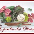 composition florale centre de table orchidées