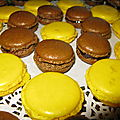 Macarons citron et chocolat grand marnier