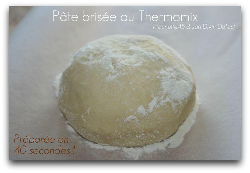 Pâte brisée au thermomix