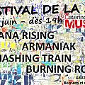 Samedi 17/06 : festival de la zik : diana rising + armaniak + smashing train + burning road