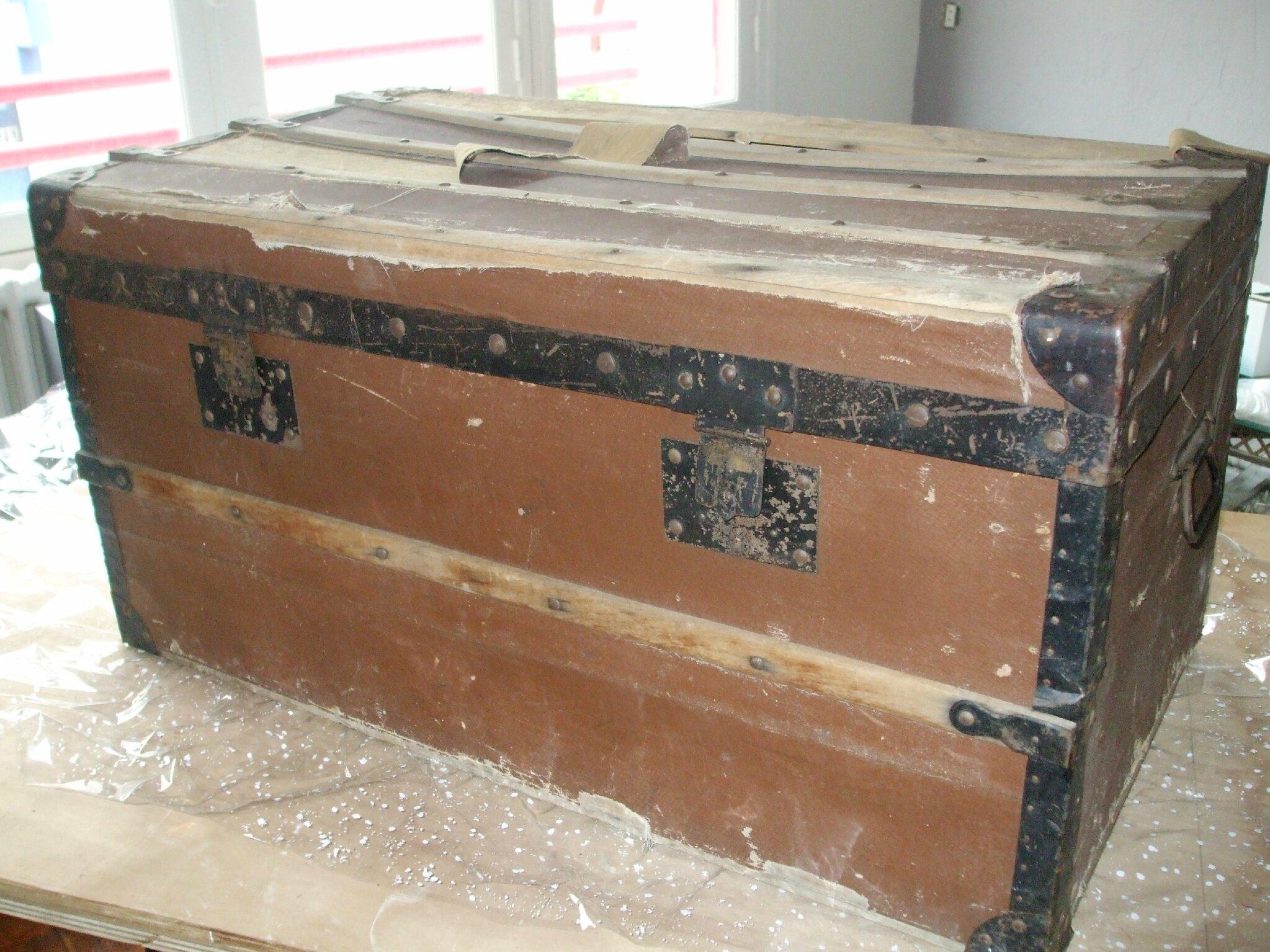 Malles et valises la mandragore et le pass revisit - Valise en bois ancienne ...