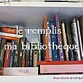 Je remplis ma bibliothèque (enfin la table basse là....) : novembre 2016