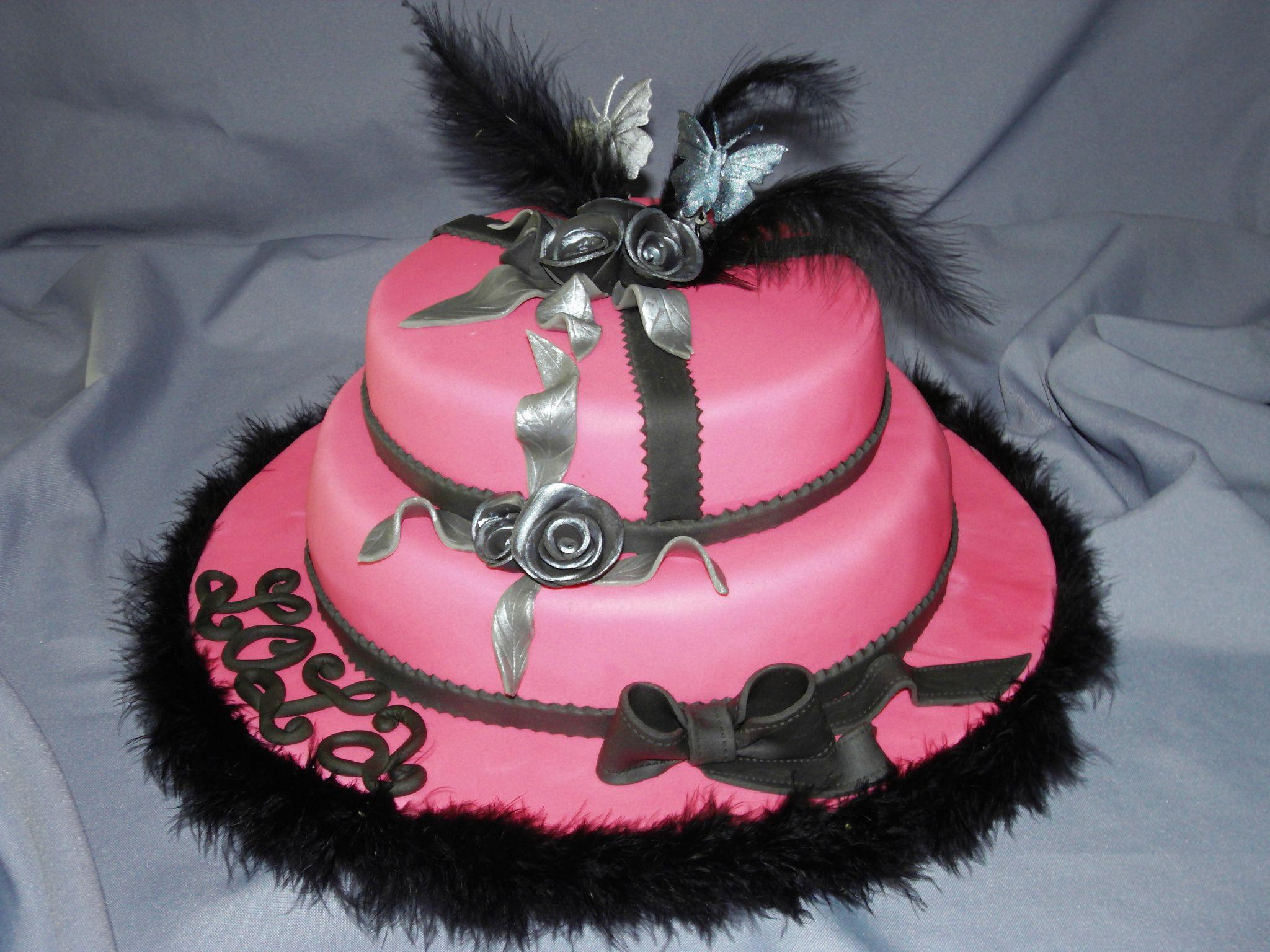Populaire Gâteau à étage rose et noir - Oh ! Délices de Sandra WR61