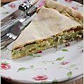 Tourte aux courgettes et parmesan, spécialité niçoise.