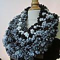 Jolis col - plastron au tricot