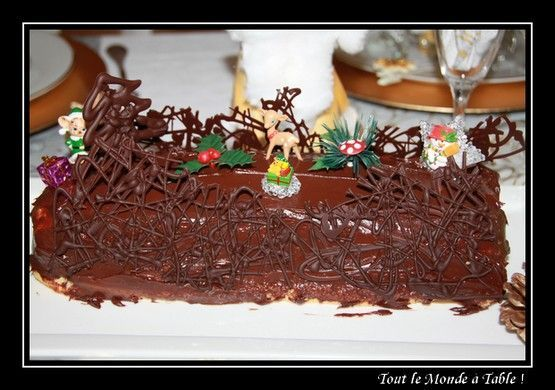 B che de no l la r cap tout le monde table - Decoration pour buche de noel maison ...